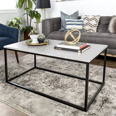 Arianna Coffee Table Table Top Color : Concrete