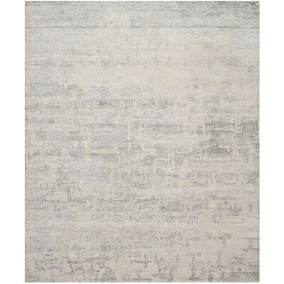 Paramkusham Tibetan Hand Knotted Natural/Silver Area Rug Rug Size: Rectangle 8 x 10