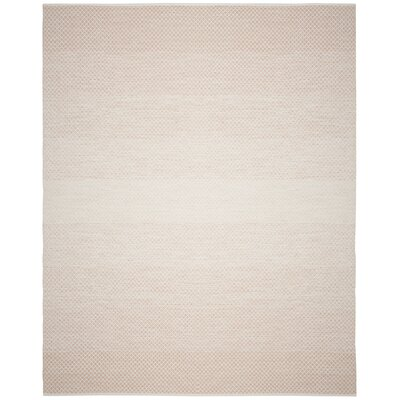 Alannah Hand Woven Beige/Ivory Area Rug Rug Size: Rectangle 8 x 10