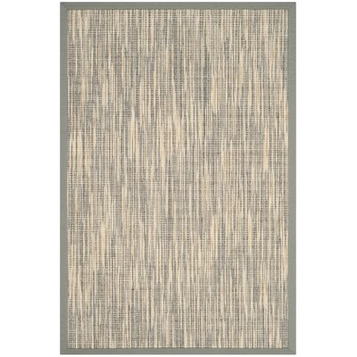 Adeline Natural/Gray Area Rug Rug Size: Rectangle 4 x 6