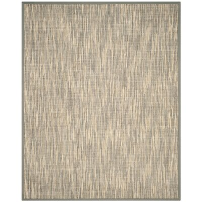 Adeline Natural/Gray Area Rug Rug Size: Rectangle 8 x 10