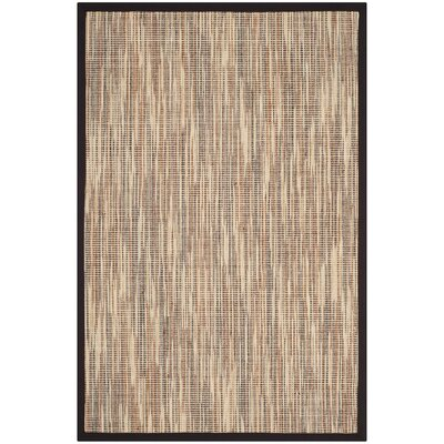 Adeline Natural/Brown Area Rug Rug Size: Rectangle 4 x 6