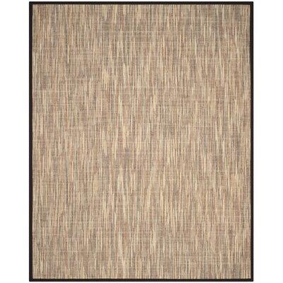 Adeline Natural/Brown Area Rug Rug Size: Rectangle 8 x 10