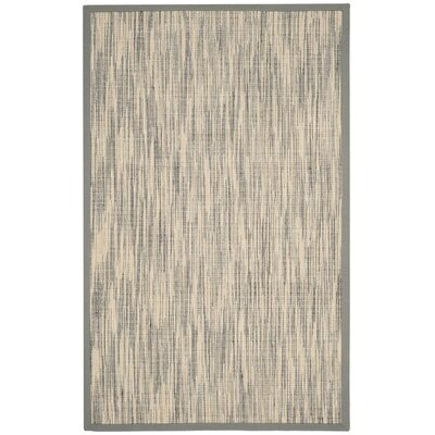Adeline Natural/Gray Area Rug Rug Size: Rectangle 5 x 8