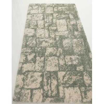Nehemiah Patch Green/Cream Indoor Area Rug Rug Size: Rectangle 27 x 411