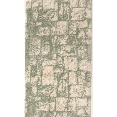 Nehemiah Patch Green/Cream Indoor Area Rug Rug Size: Runner 27 x 91