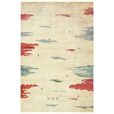 Eladia Cream Area Rug Rug Size: Rectangle 43 x 6