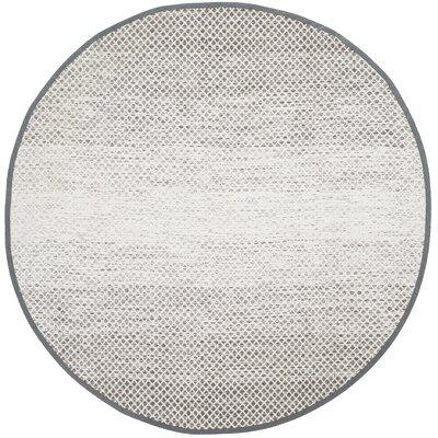 Amaya Hand Woven Gray Area Rug Rug Size: Round 6 x 6