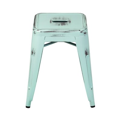 Laronda Distressed 18 Bar Stool Set Of: Set of 1
