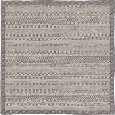Antoine Gray Outdoor Area Rug Rug Size: Square 6