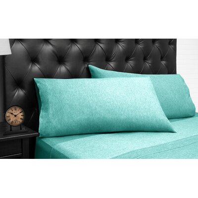 Bari Jersey 3 Piece 100% Cotton Sheet Set Size: Queen, Color: Aqua