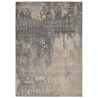 Auburn Gray/Beige Area Rug Rug Size: 111 x 211
