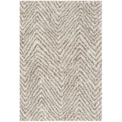 Cammie Ivory/Gray Area Rug Rug Size: Rectangle 2 x 3