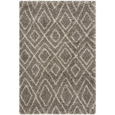 Cammie Gray/Ivory Area Rug Rug Size: Rectangle 8 x 10