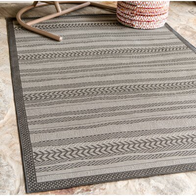 Antoine Gray Outdoor Area Rug Rug Size: Rectangle 9 x 12