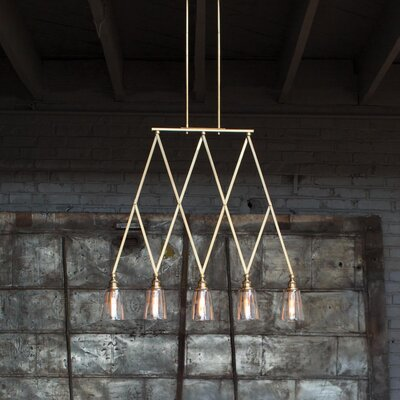 Lenita 5-Light Kitchen Island Pendant Finish: Heritage Brass