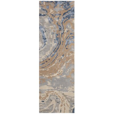 Ayana Hand-Tufted Gray Area Rug Rug Size: Rectangle 2 x 3