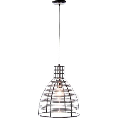 Shane 1-Light Mini Pendant Finish: Silver, Size: 16 H x 13 W x 13 D