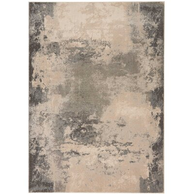 Mana Ivory/Gray Abstract Area Rug Rug Size: Rectangle 53 x 73