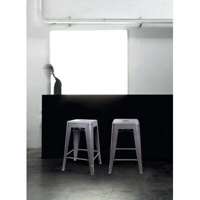 Caine 24 Bar Stool Color: Gray