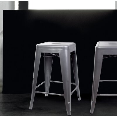 Caine 24 Bar Stool Color: Gray