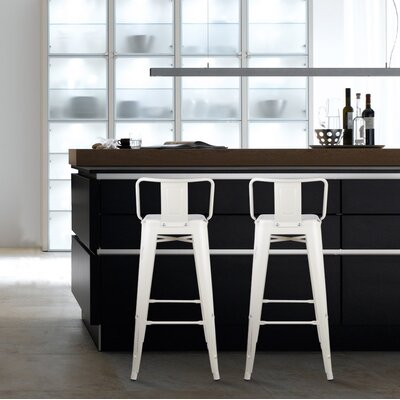 Capucine 30 Bar Stool Color: Antique White