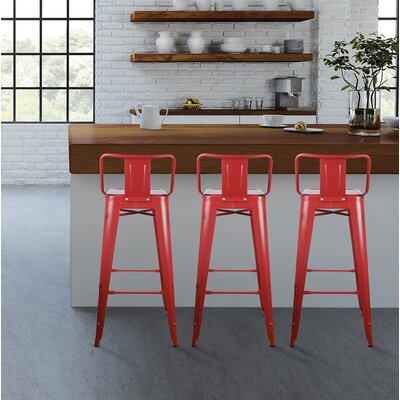 Capucine 30 Bar Stool Color: Antique Red