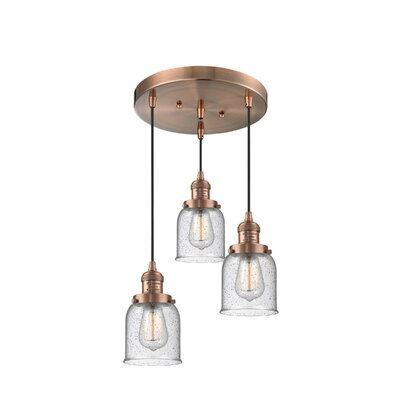 Bourland 3-Light Cluster Pendant Finish: Antique Copper