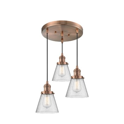 Bovee 3-Light Cluster Pendant Finish: Antique Copper