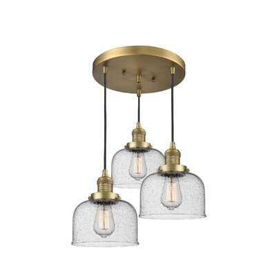 Bousquet 3-Light Cluster Pendant Finish: Brushed Brass
