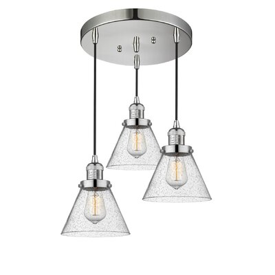 Boutte 3-Light Cluster Pendant Finish: Polished Nickel