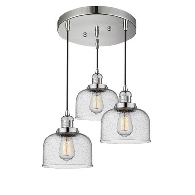 Bousquet 3-Light Cluster Pendant Finish: Polished Nickel