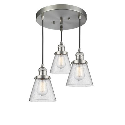 Bovee 3-Light Cluster Pendant Finish: Brushed Satin Nickel