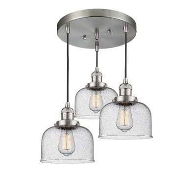 Bousquet 3-Light Cluster Pendant Finish: Brushed Satin Nickel