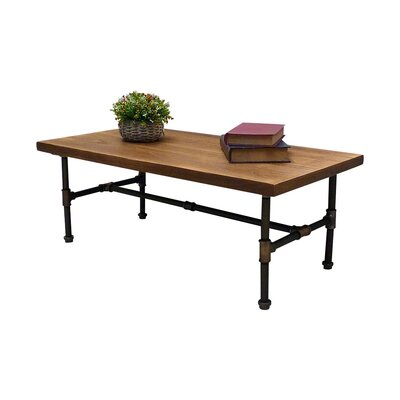 Griffith Industrial Coffee Table Color: Rustic Bronze