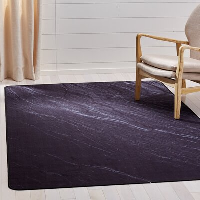 Kira Black Area Rug Rug Size: Rectangle 51 x 76
