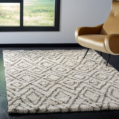 Cammie Ivory Area Rug Rug Size: Rectangle 6 x 9