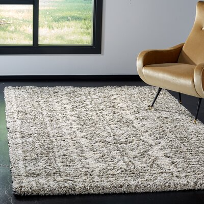 Cammie Ivory/Gray Area Rug Rug Size: Rectangle 6 x 9