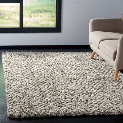 Cammie Ivory/Gray Area Rug Rug Size: Rectangle 51 x 76