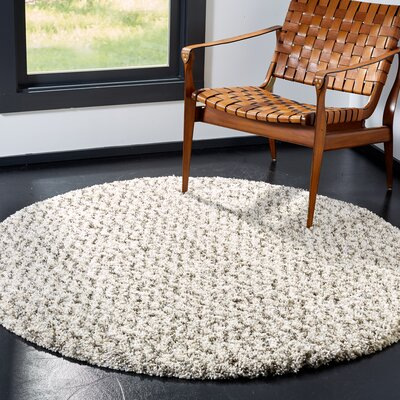 Cammie Ivory Area Rug Rug Size: Round 5