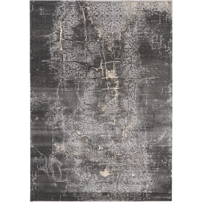 Shirleen Charcoal Area Rug Rug Size: Rectangle 93 x 129