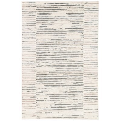 Lizette Ivory Area Rug Rug Size: 2 x 3