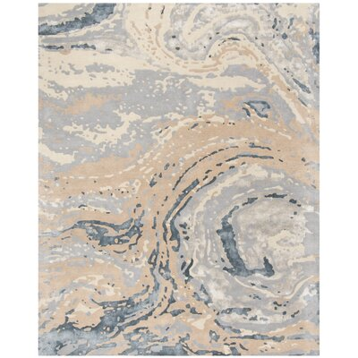 Ayana Hand-Tufted Gray Area Rug Rug Size: Rectangle 76 x 96