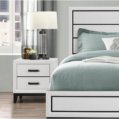 Jerold 2 Drawer Nightstand Color: White