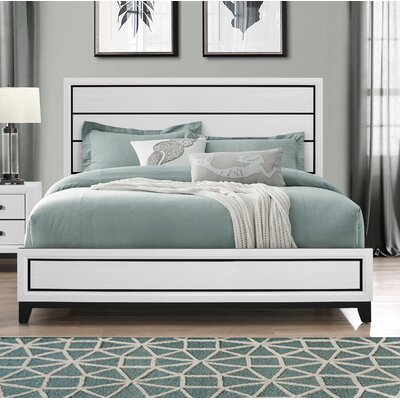 Jerold Panel Bed Color: White, Size: King