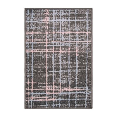 Calista Painted Stripes Gray Area Rug Rug Size: Rectangle 2 x 3