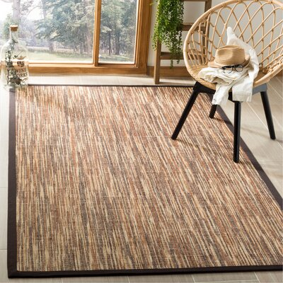 Adeline Natural/Brown Area Rug Rug Size: Rectangle 5 x 8