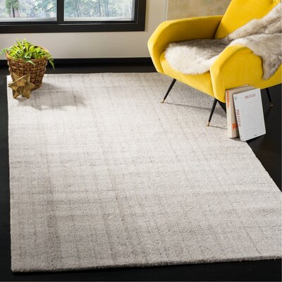 Brendan Hand-Tufted Light Gray Area Rug Rug Size: Rectangle 5 x 8