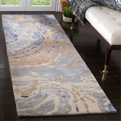 Ayana Hand-Tufted Gray Area Rug Rug Size: Rectangle 26 x 8