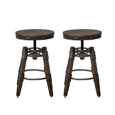 Caloundra Adjustable Height Swivel Bar Stool (Set of 2)